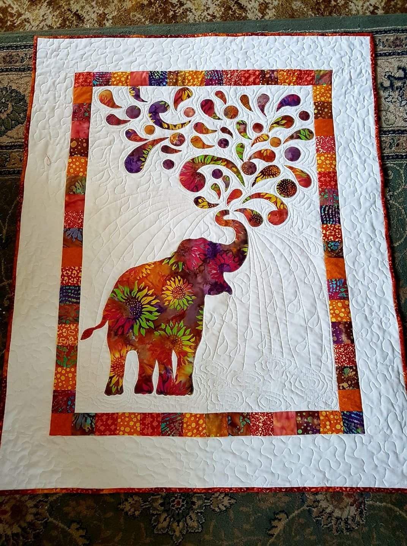 Paisley Splash Elephant Baby Crochet Pillow Applique Designs Quilt