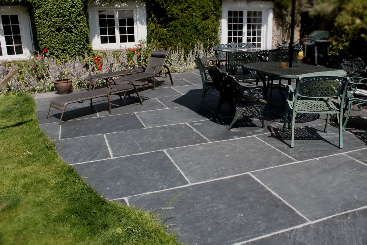 Grey Slate Pavers Large Slabs Cute Garden Patio Tiles Patio