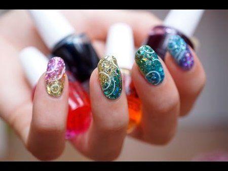 Glitter jellies video tutorial - #nailart #rainbownails #glitternails #glitternailart #piggieluv - bellashoot.com / bellashoot iPhone & iPad app