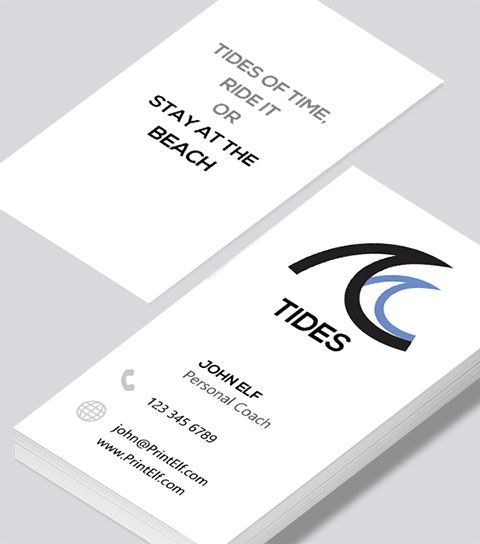Modern contemporary business card design personal coach tides free business cards reheart Choice Image