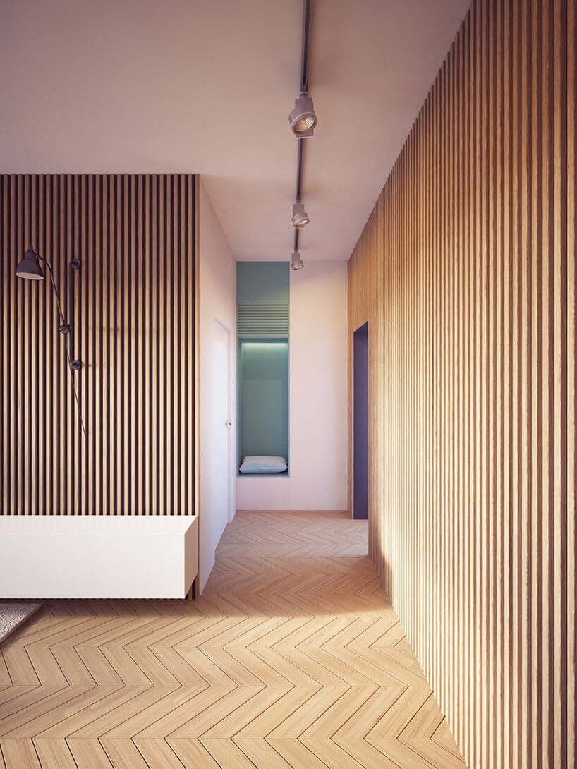 This Is How To Make Wood Panel Walls Look Modern Nonagon Style Modern Apartment Decor Modern Apartment Interior Design