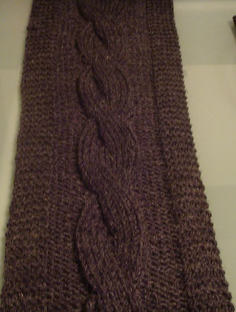 Ravelry Simple Cabled Scarf Pattern By Jamila Nurse Knitting