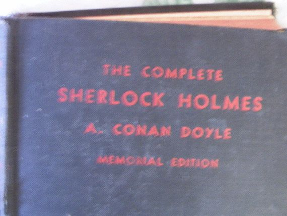 Vintage Book The Complete Sherlock Holmes by Arthur by anniejones4, $29.00