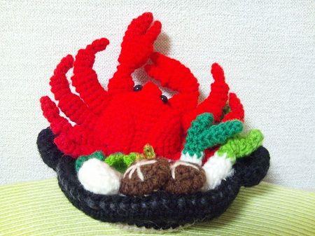 plato de comida amigurumi pagina japonesa