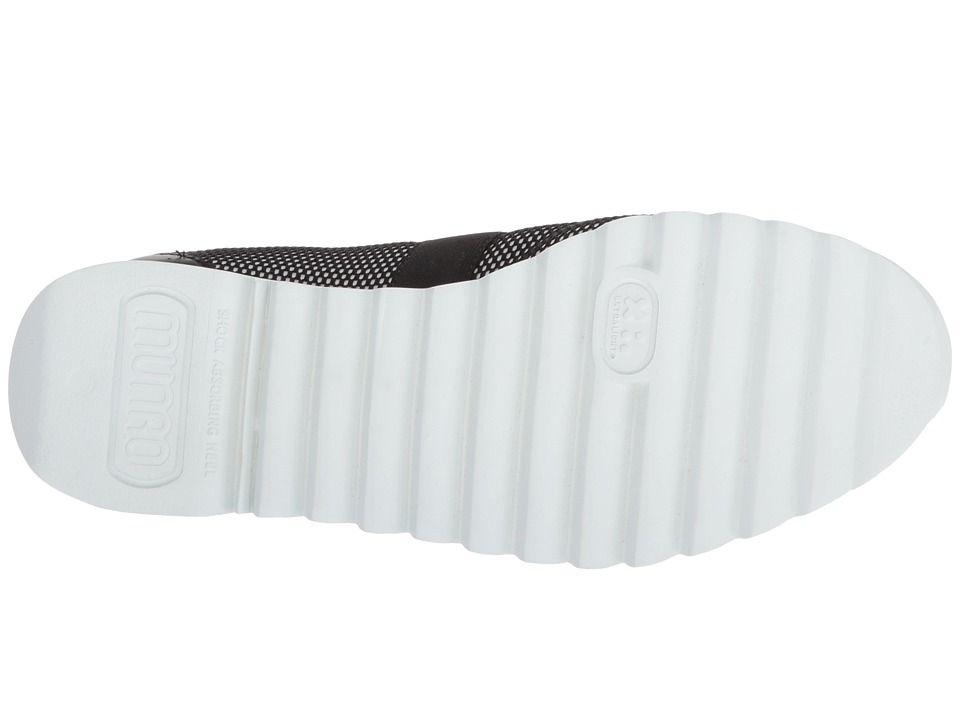 43d69030ed8 Munro Alta Women s Slip on Shoes Black White Mesh