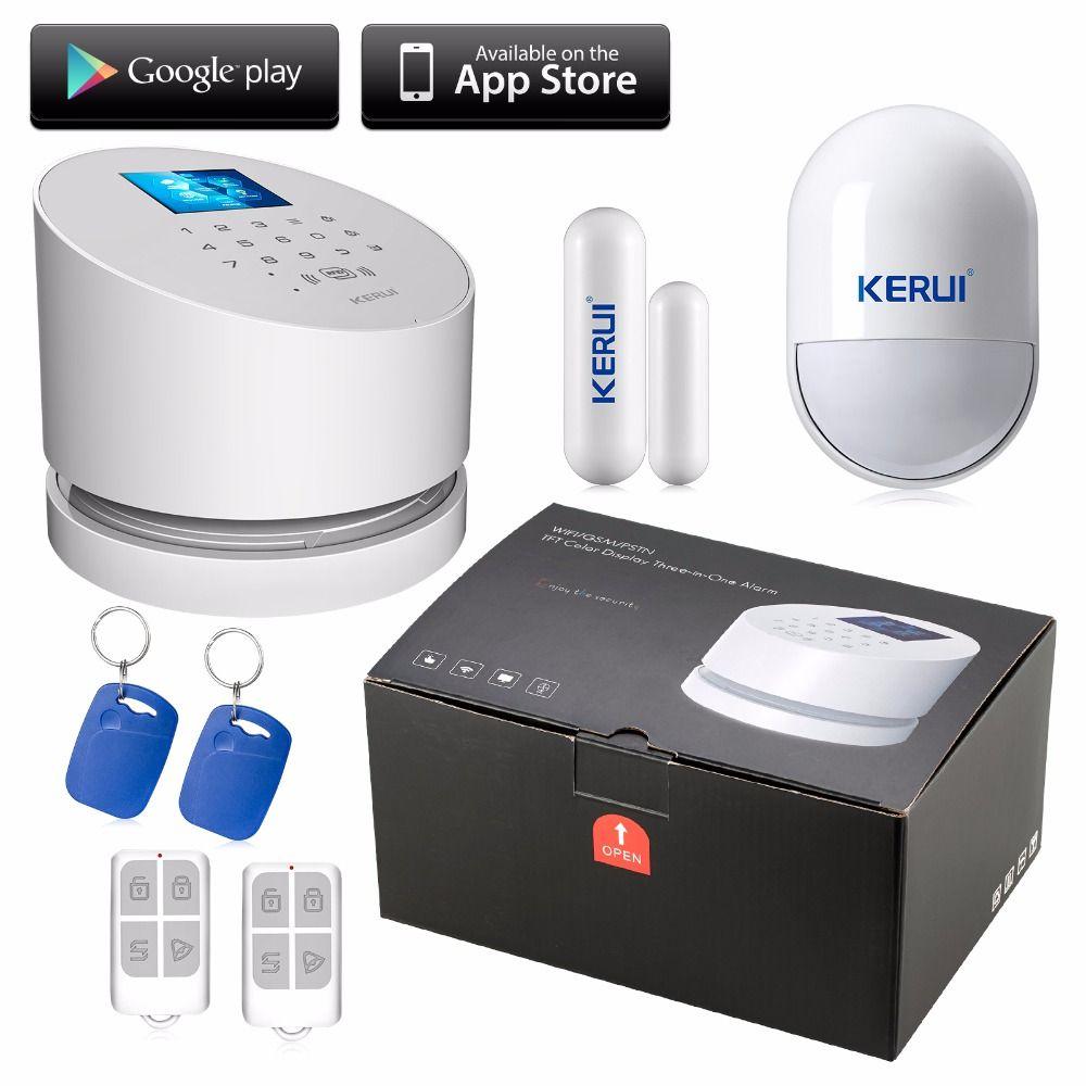 Kerui Wireless Wifi System Alarmowy Andorid Ios App Gsm Linia Low Cost Burglar Alarm For Boats Draadloze Alarmsysteem Pstn Line Telefoon Rfid Security Met Originele Doos