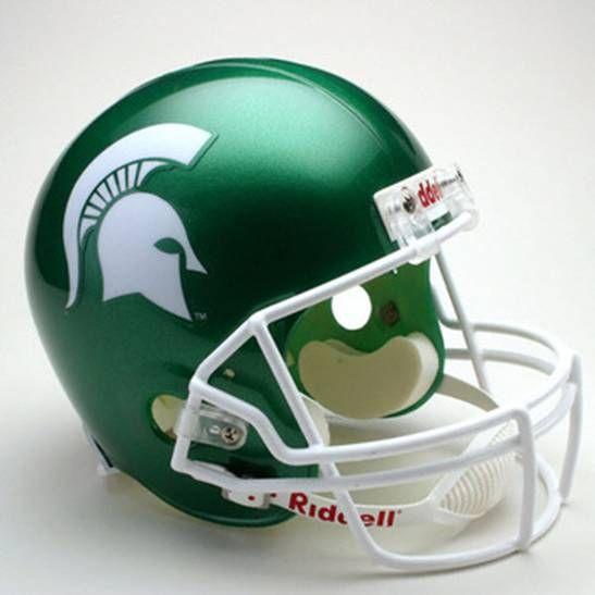 Michigan State University Spartans Football Game Helmet Michigan State Spartans Michigan State Football Helmets