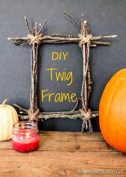 Diy Twig Frame Twig Crafts Twig Art Diy Frame