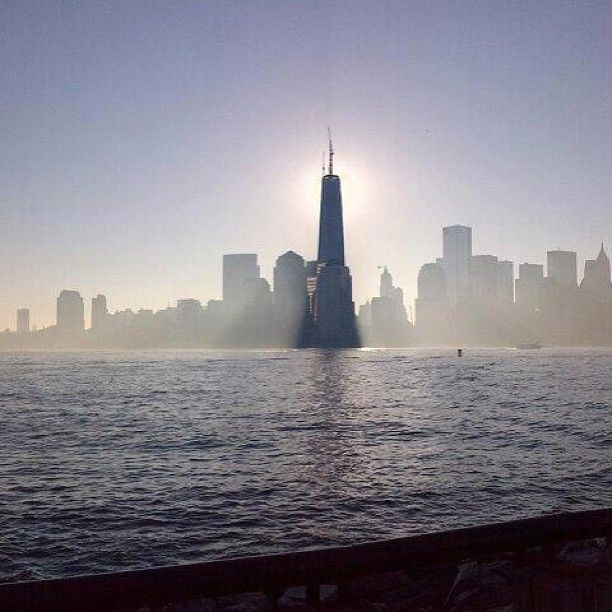 The One World Trade Center spire has been lowered into place. It is now the tallest building in the Western Hemisphere at 1,776 feet. (Photo: Anne Thompson / NBC News) #1WTC #NYC
