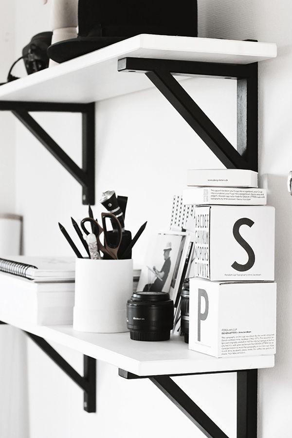 The Design Chaser: Workspace Storage   Ideas + Inspiration #office #decor # Ideas. Black White ...