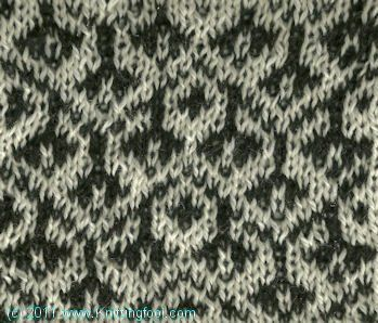 Earring 5 - Knittingfool Stitch Detail
