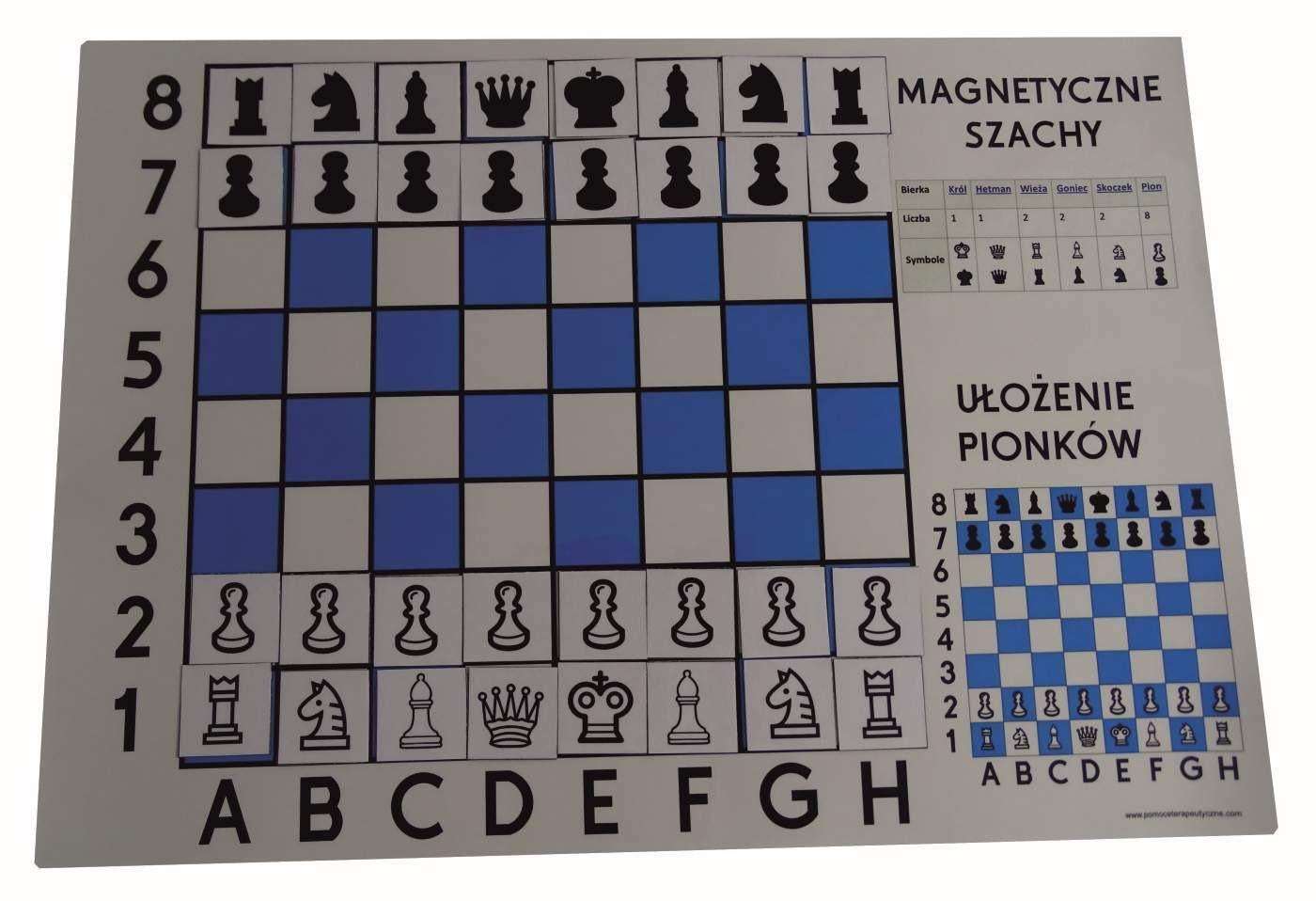 Szachy Tablica Magnetyczna A3 Demonstracyjna