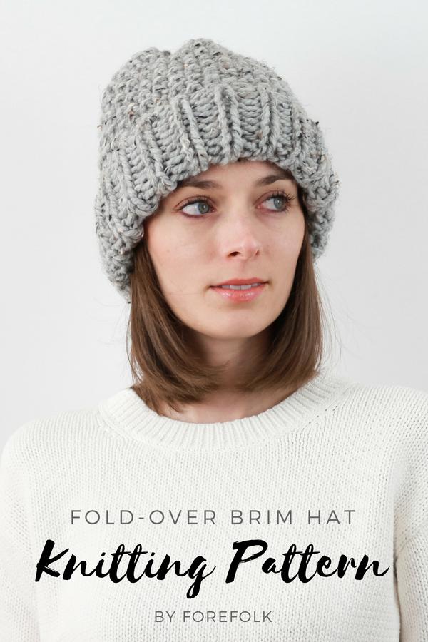 2cc5c99df0c Fold-Over Brim Hat Knitting Pattern