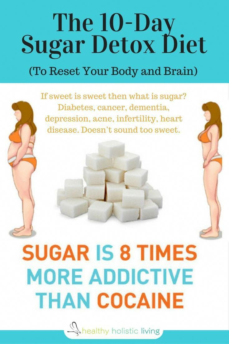 The 10-Day Sugar Detox Diet (To Reset Your Body and Brain) #DetoxDietPlanWeightloss #HealthyDetoxEssentialOils #sugardetoxplan