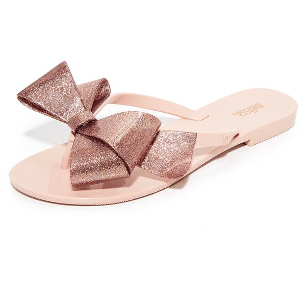 Melissa Harmonic Bow III Flip Flops ($55) ❤ liked on Polyvore featuring  shoes,
