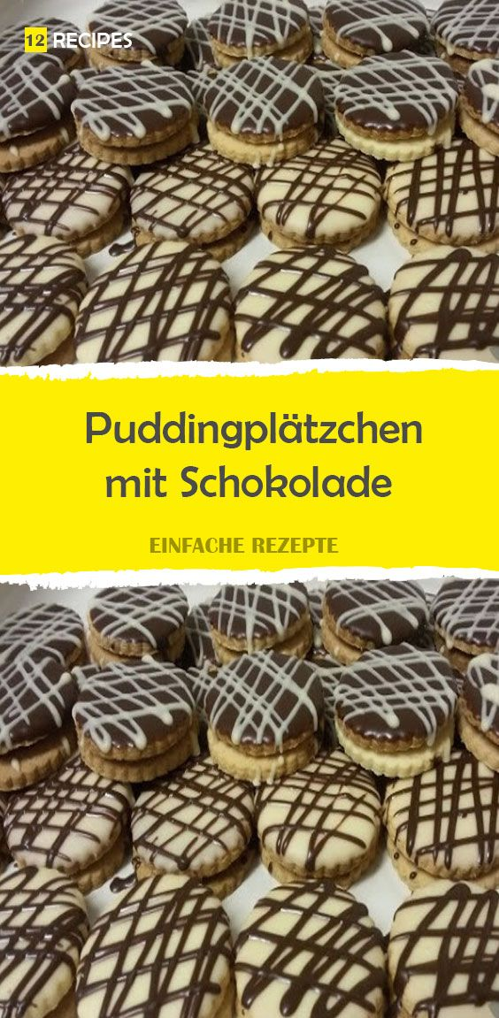 Pudding cookies with chocolate