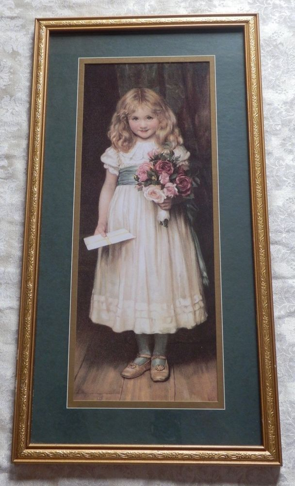 Homco Home Interior Framed Print Love Letter Little Roses Victorianstyle