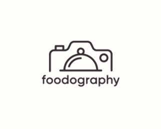 Foodography Logo Design Logomark Logotype Outline Food Photography Photo Camera Food Brochure Cover Design Photography Logos Photography Logo Design