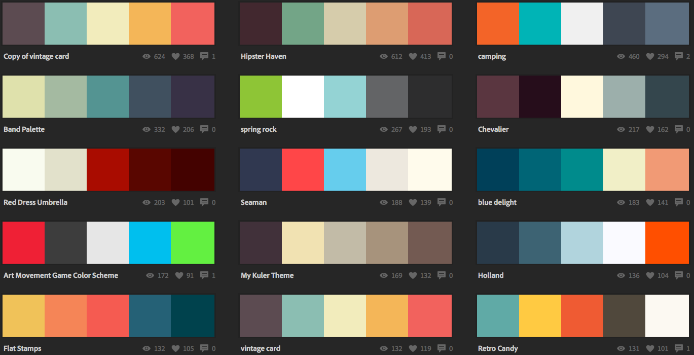 Picking color schemes for craft projects or for web Color combinations painting
