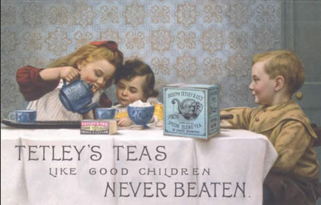 Late 19th century Tetley ad. Brilliant line.