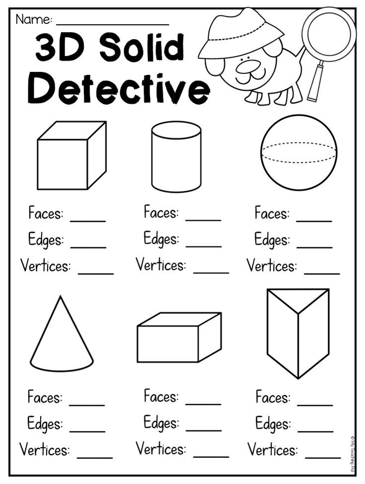 First Grade 2d And 3d Shapes Worksheets My Future Classroom