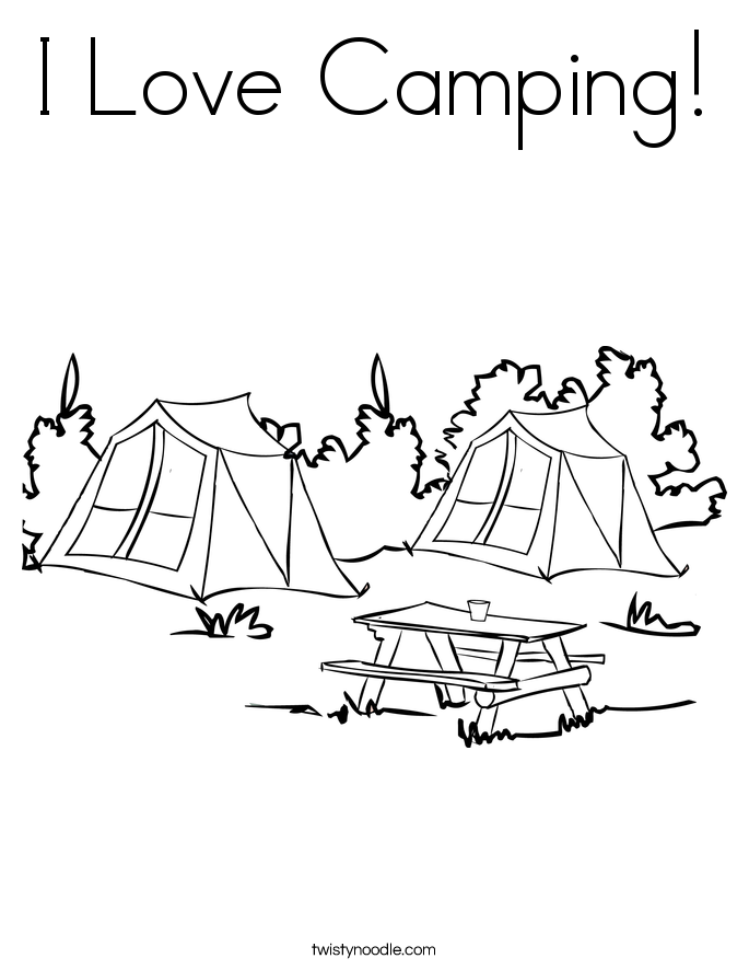 gallery for camping coloring pages for preschool