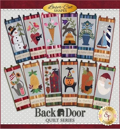 Back Door Quilt Series Club - Pre-fused/Laser-Cut: Brighten up your home each month of the year with these beautiful 11½
