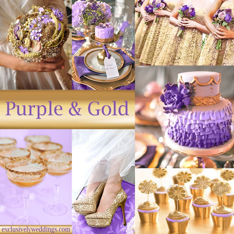 Purple and Gold Wedding Colors | Aneka & Kem | Pinterest | Gold ...