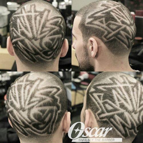 Full Head Random Hair Design With Lines Cool Hairstyles Funky Haircuts Hair Designs