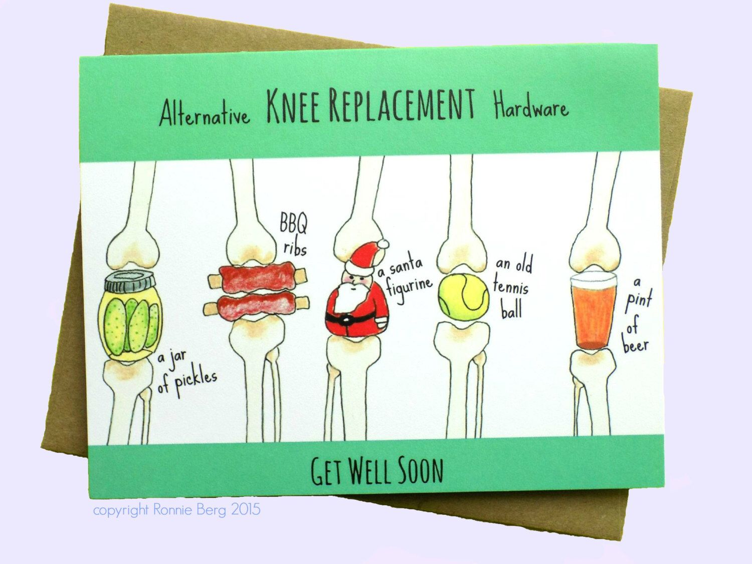 Knee Replacement, Funny Get Well Card, Knee Surgery Card