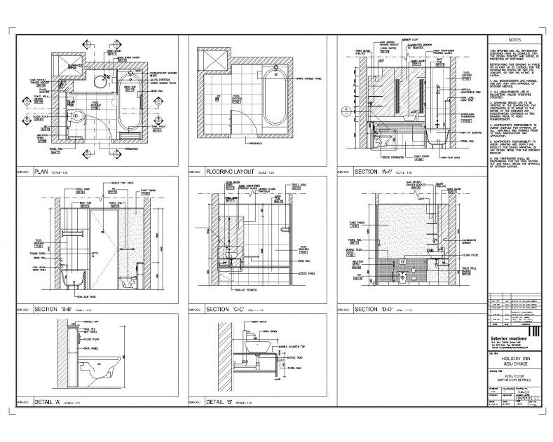 Bathroom Detail Drawing Autocad Drawing Interior Architecture
