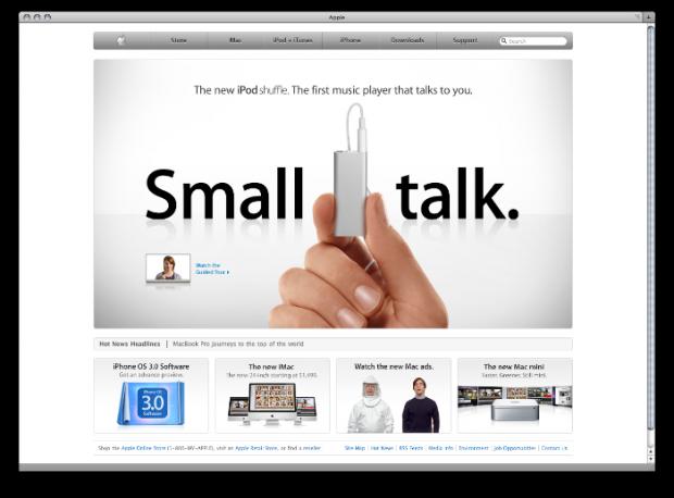 Apple Website May 2009 New Mac Mini Iphone Os Web Inspiration