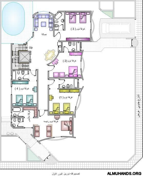 تصاميم معماريه الصفحة 4 منتديات شبكة المهندس Dream Home Design House Floor Plans Villa Design