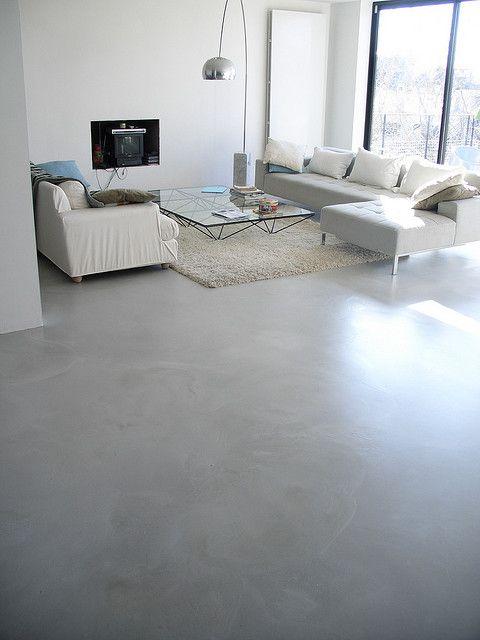 Sol la résine minérale® Concrete, Concrete floor and Salons - interieur bodenbelag aus beton haus design bilder