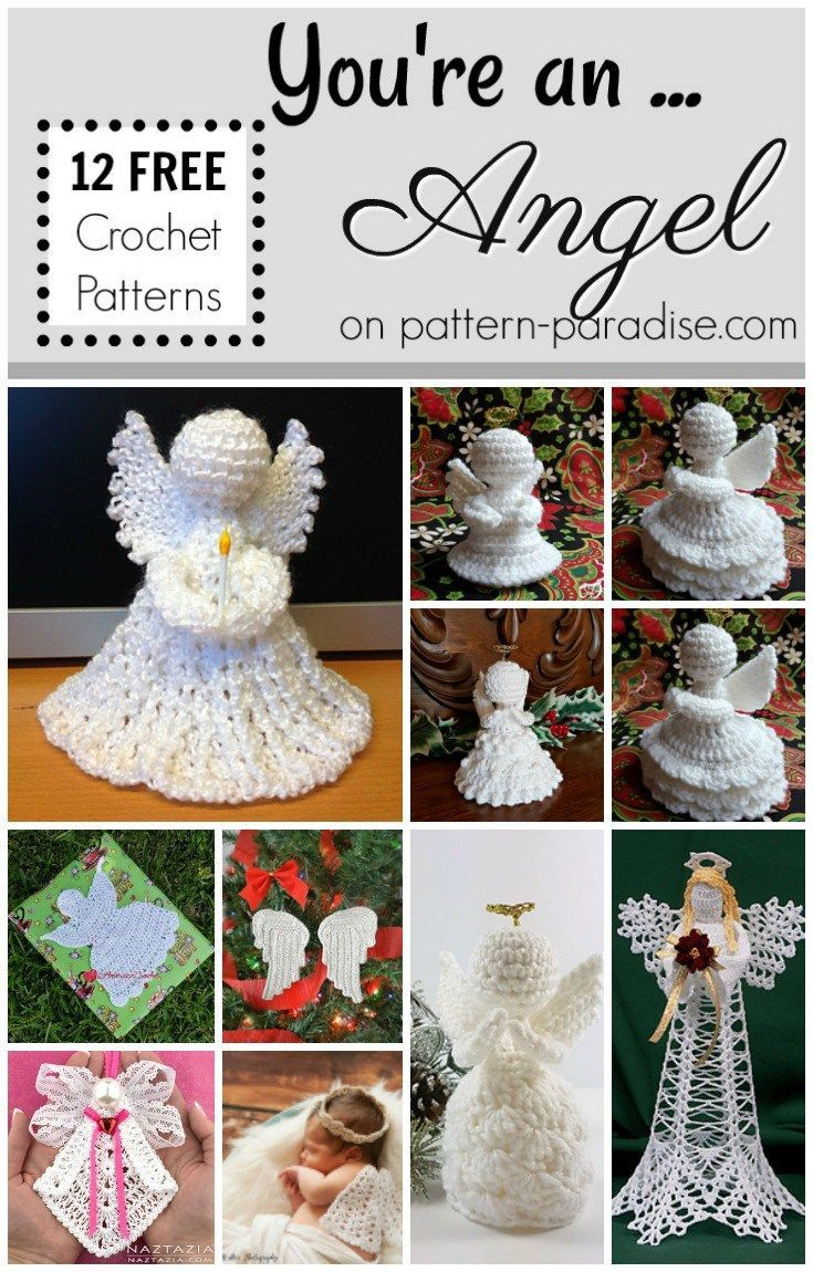 Crochet Finds You Are An Angel Pattern Paradise Crochet Angel Pattern Crochet Angel Christmas Crochet Patterns