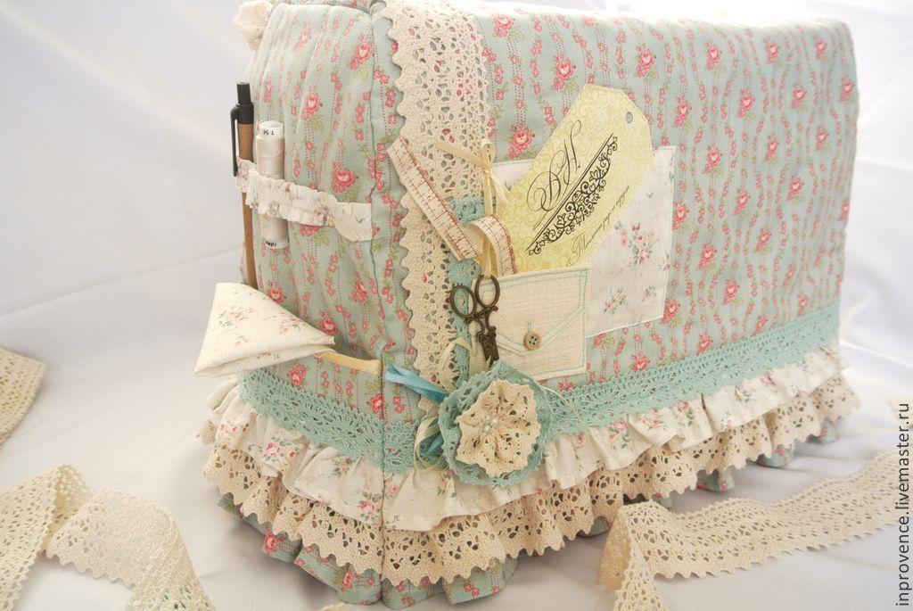 497a1b3600b0 Купить Чехол для швейной машинки винтажный с кружевом шебби Шик - чехол для  машинки, чехол на машинку