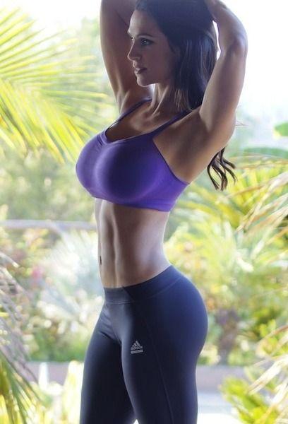 Big cleavage yoga boobs pants sexy