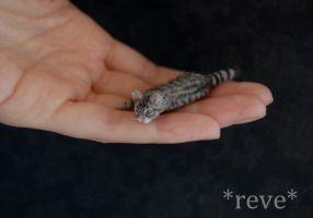 Miniature Cat Handmade Sculpture by ReveMiniatures