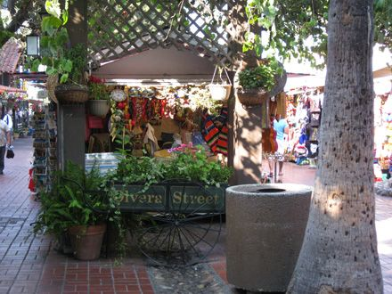 Olvera Street en Los Angeles Downtown.