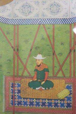 2.Détail d'une miniature persane représentant Ulugh Beg recevant les ambassadeurs