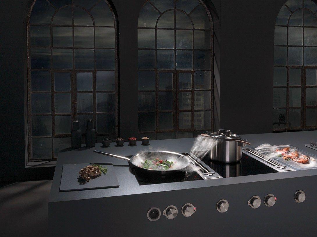 Induction glass ceramic wok cooktop Flush-mount hob Professional ...