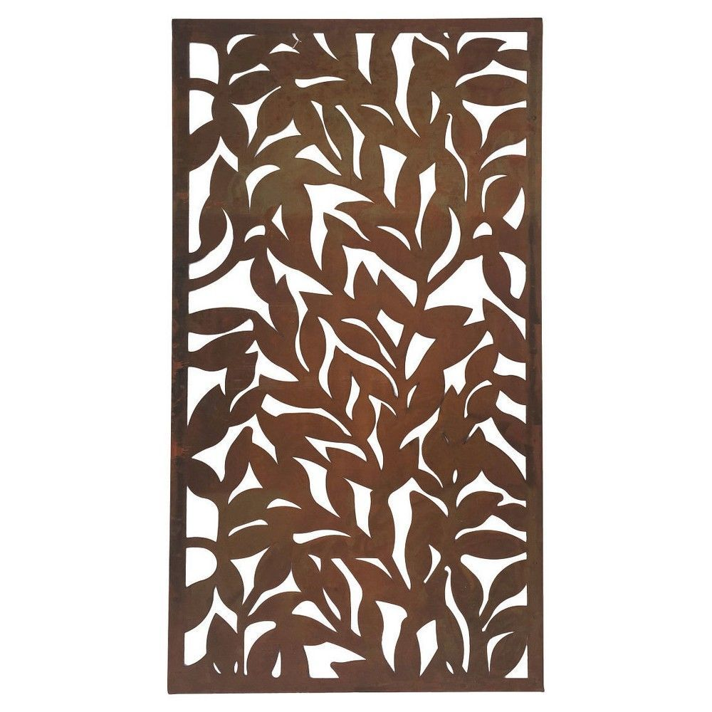 Foreside home u garden metal leaf wall art bronze brown modern