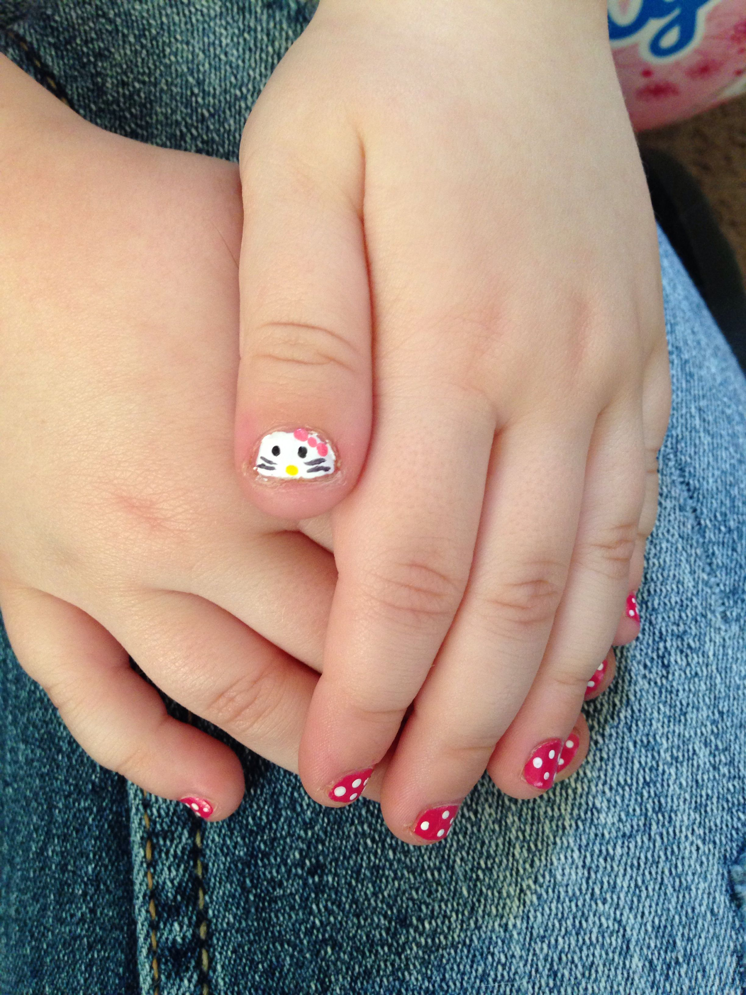 2d59cd2c4 Little girl hello kitty nails | Nails | Nail designs, Girls nail ...