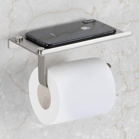 Toilet Paper Holder With Phone Shelf Urhomepro Stainless Steel Tissue Holder Wall Mount Tissue Roll Hanger For Bathroom Washroom Space Aluminum I1033 Wal In 2020 Stainless Steel Bathroom Accessories