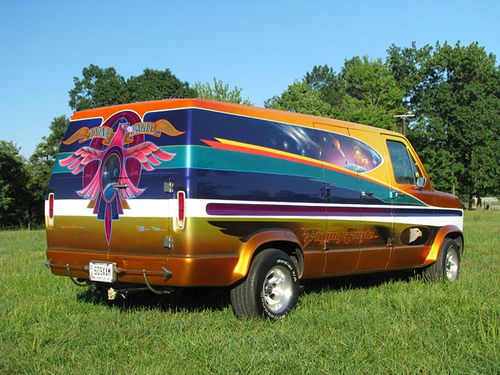 Flying Eagle Ii Airbrushed Custom Van Custom Vans Cool Vans Vans