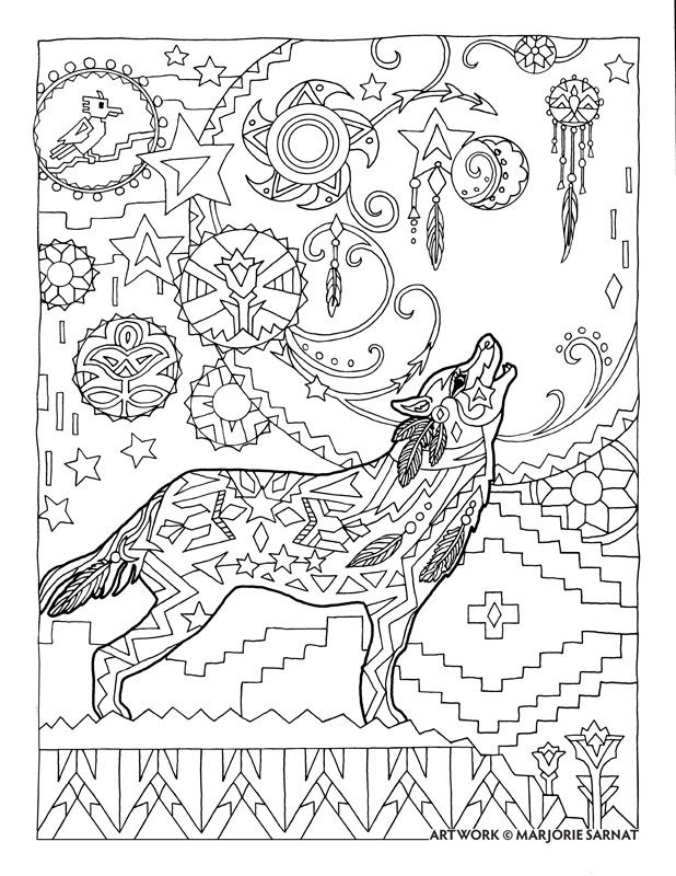 Creative Haven Dazzling Dogs Coloring Book By Marjorie Sarnat Howl At The Moon