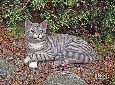 Katze Deko Keramik Garten Teich Wetterfest Kerri Cat Statue Ceramic Angels Ceramic Decor