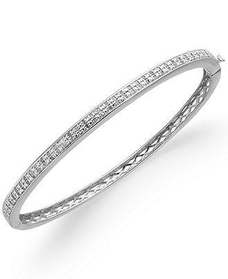 Victoria Townsend Diamond Bracelet Sterling Silver Plated Diamond