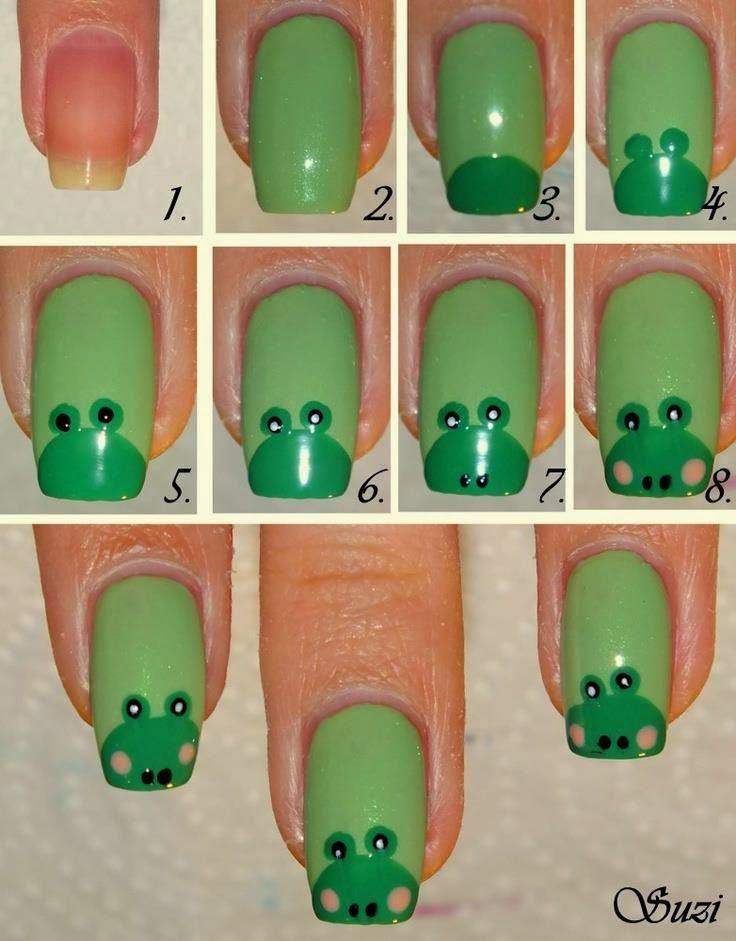 Tutorial para diseño de uñas con ranitas | Diseño de uñas ...
