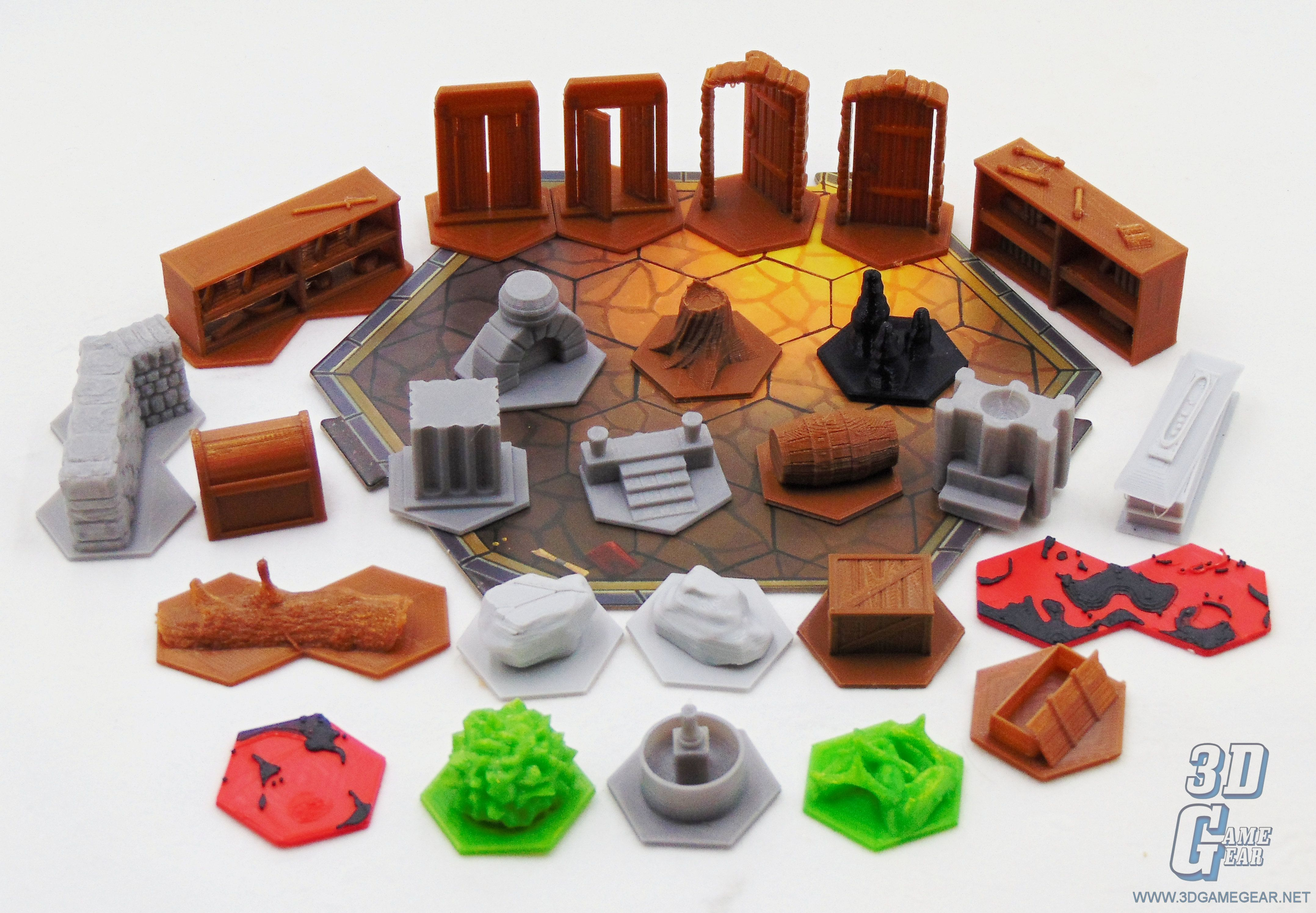 Gloomhaven 3D Printed Terrain & Obstacle Tiles Prints